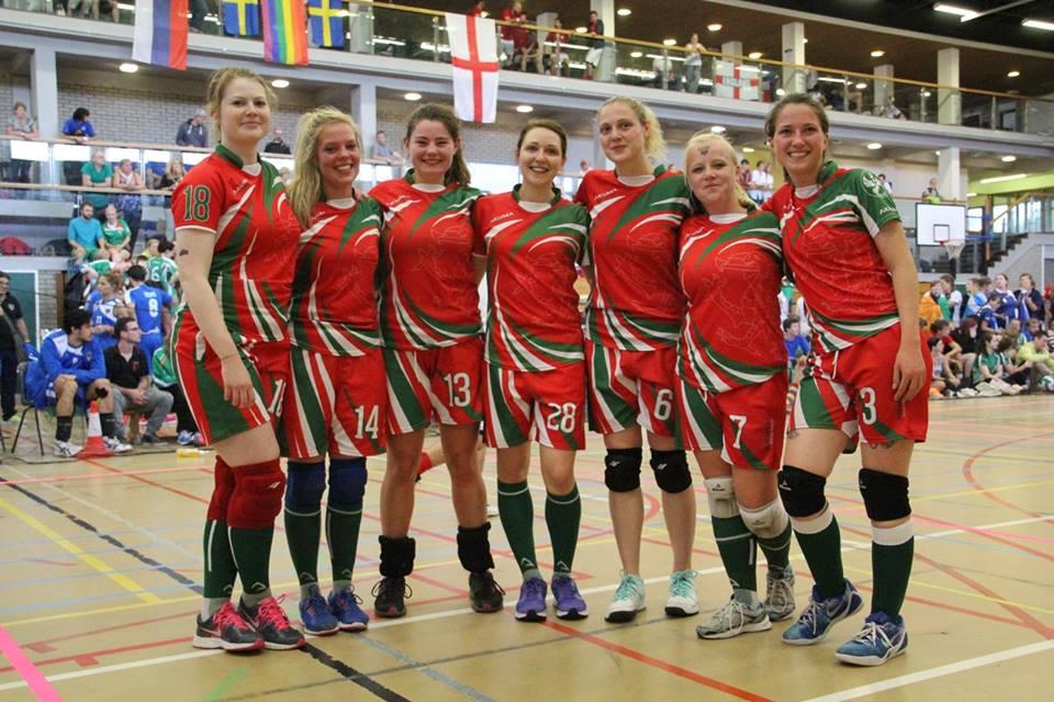 The new Women's European Dodgeball Champions 2015-Belfast, Wales Dragons – International Dodgeball Team