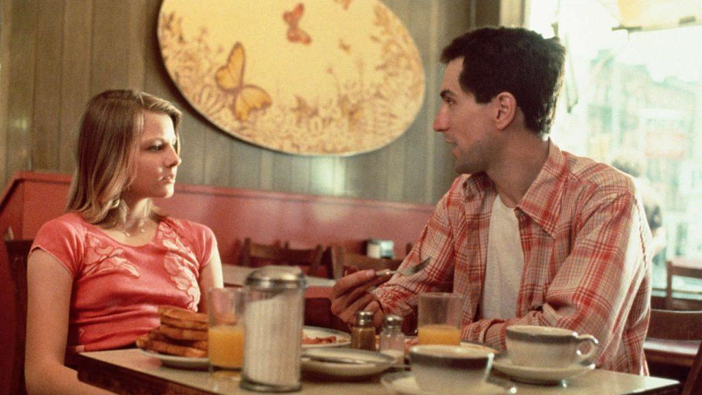"""Диалог на Де Ниро с Джоди Фостър по време на снимките на """"Шофьор на такси"""" на Мартин Скорсезе от 1976 година."""